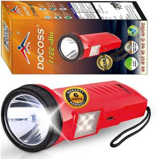 DOCOSS NEEM 2 in 1-6W Rechargeable Torch Light High Power Portable Led Torch Ultra Bright with SMD Eme...
