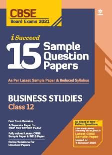 Cbse New Pattern 15 Sample Paper Business Studies Class 12 for 2021 Exam with Reduced Syllabus