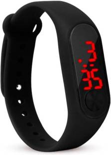 Vaishnavi collection Unisex M2 LED Band Digital Watch (Black)