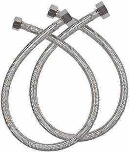 V-Guard STAINLESS STEEL BRAIDED FLEXIBLE PIPE FOR GAS GEYSER Hose Pipe