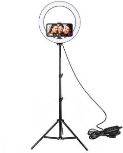 FRAONY 100% Great Quality Big Selfie Ring Light Stand for Live Stream-LED Ring Light Dimmable Makeup Light with 3 Light Mode,10 Level Brightness for Photo YouTube Flash