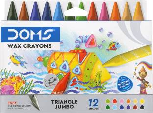 DOMS Tri-Jumbo Wax Crayons 12+1 Shades