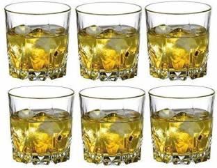 shopgenix mart (Pack of 6) bottom cut wishkey glass Glass Set