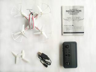 Akshat HX 770 Toy Drone Quadcopter (Without Camera), Stable Flight IR Remote Control - White Drone