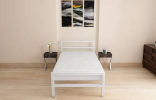 Doctor Dreams by Nilkamal Metal Single Bed Finish Color   White