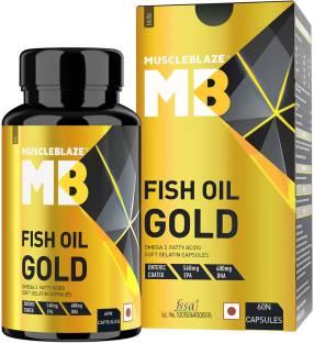 MUSCLEBLAZE Fish Oil Gold 460 mg EPA, 380 mg DHA