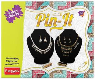 FUNSKOOL PIN IT , CREATIVE JEWELLERY MAKING KIT GAME , LOVED BY GIRLS, GREAT GIFT FOR GIRLS