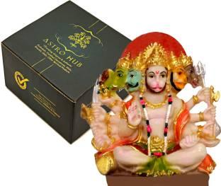 ASTRO HUB Panchmukhi Hanuman for Door, Panchmukhi Hanuman, Hanuman ji murti, Marble Idols Hanuman, Hanuman Marble Idols Decorative Showpiece  -  20 cm