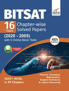 Bitsat 16 Years Chapter-Wise Solved Papers (2020 - 2005) with 5 Online Mock Tests