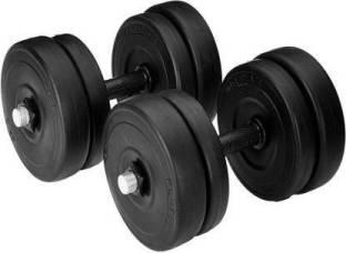 S.DSPORTS 4 Pvc plates of 2.5 kg each + 2 dumbell rod Adjustable Dumbbell