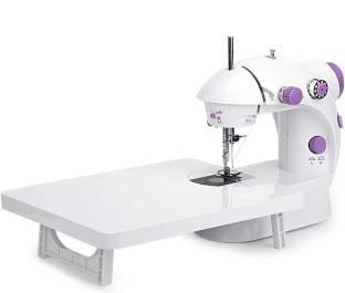 LATESHOP Mini Sewing Machine with Extension Table, Portable Dual Speed Beginner Sewing Machine with ...