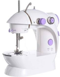 LATESHOP Mini Sewing Machine with Dual Thread and Two Speeds, Portable, Sewing Kit for Home, Travel, Kids, Beginners Electric Sewing Machine