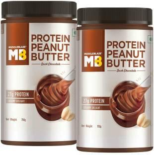 MuscleBlaze High Protein Peanut Butter Pack of 2, Dark Chocolate Creamy 1500 g