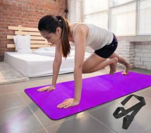 Fitness Mantra Premium 100% EVA Eco Friendly Non Slip Yoga Mat With Strap Purple 6 mm Yoga Mat