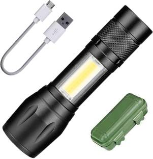 DMCEF Mini 2in1 Waterproof Chargeable LED 3 Mode Zoomable Full Metal Body 9W Flashlight Torch Home / O...
