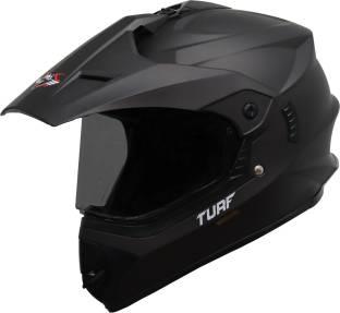 Steelbird Off Road TURF Motocross Helmet in Matt Royal Brown with Clear Visor Motorbike Helmet