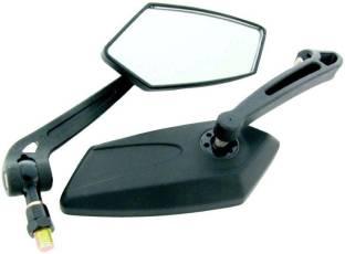 ACCESSOREEZ Manual Dual Mirror, Rear View Mirror For Universal For Bike Universal For Bike