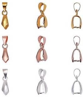 20pcs Leaf Shape Bail Charms Findings for Pendants Earring Dangles DIY