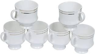 j k dream shade Pack of 6 Bone China Fine Tableware Bone China Tea Cups Set of 6 | Coffee Mugs for Home Office -(140 ml)