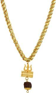 TIRUPATI Deals Loard Shiv Vinaashkari Shakti Kavach 5 Mukhi Chamtkaari Pendant with Golden New Chain f...