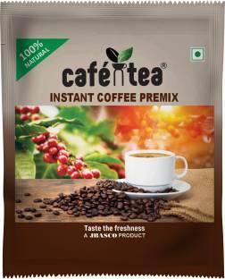 CAFE N TEA Café N Tea 100% Natural Instant Coffee Premix Sachets - 14g [Pack of 20] Instant Coffee