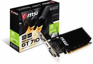 MSI NVIDIA GT 710 2GD3H LP I 64 bit I PCI Express 2.0 x16 (uses x8) 2 GB DDR3 Graphics Card