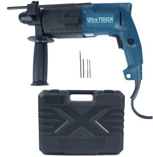 Ultra Touch 20mm 500W rotary Impact drill machine SDS plus with 2 mode operation bits and carrying box...