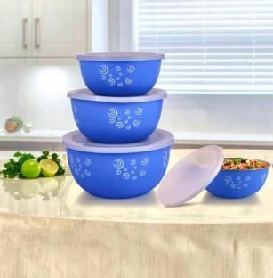 DP GLOWBERG Microwave Safe Stainless Steel Plastic Coated Designer bowl 1900ml,2900ml,3000ml,4900ml Plastic, Steel Storage Bowl