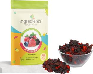 INGREDIENTS Mixed Berries Cranberries, Blueberry, Strawberries, Goji Berries
