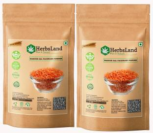 HerbsLand 100% Pure and Natural Masoor Dal Facewash Powder For Skin, Face Pack | Face Mask for Fairness | Tanning & Glowing Skin Face Wash