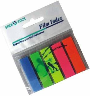BAMBALIO 5 Inch, 5 Neon Color Prompts 25 Sheets Pack of 6 , BSNS-10F, 5 Colors