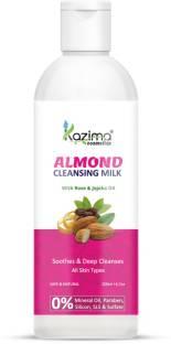 KAZIMA Almond Cleansing Milk with Rose & Jojoba Oil for Deep Cleansing   Pore Detoxifying