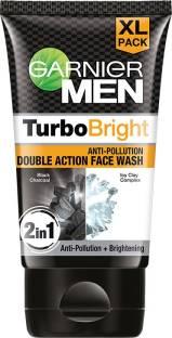 GARNIER Men Power White Double Action Charcoal  Face Wash
