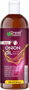 Dravida Organics Onion Hair Oil - Nourishing Hair Fall Treatment With Real Onion Extract Intensive Hair Fall Dandruff Treatment Hair Oil