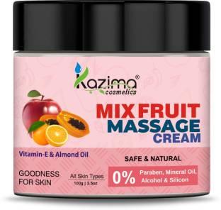 KAZIMA Mix Fruit Massage Cream with Vitamin E & Almond Oil for All Skin types