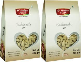 D NATURE FRESH RAW CASHEWS ,1KG (500g x 2) Cashews