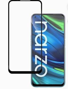 electmart Edge To Edge Tempered Glass for Realme 6, Realme 6i, Realme 7, Realme 7i, Realme Narzo 20 Pro, Oppo A52