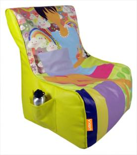 ORKA Printed Filled With Beans Leatherette XXL Chair Kid Bean Bag