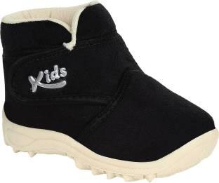 Hotspot Boys & Girls Black Casual Boots