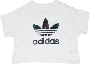 db23434d115 ADIDAS Full Sleeve Printed Girls Sweatshirt - Buy BLACK/WHITE ADIDAS ...