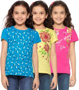 Stay Little Girls Printed Cotton