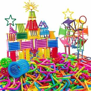 TechBlaze Mega Jumbo Pack 230 PCs Building Blocks Set in Multicolour with Different Shape Learning Construction Engineering Set 3D Puzzle ,Creative Interlocking Connecting Kit , Building Construction Toys for Kids (3+ Years)