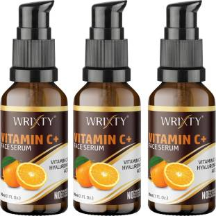 Wrixty Vitamin C + Serum With Hyaluronic Acid - Anti Wrinkle & Anti Ageing