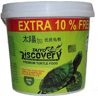 Taiyo Pluss Discovery Turtle Food 1kg + Turtle Food 100g Free!!! Vegetable 1 kg Dry New Born, Young, S...