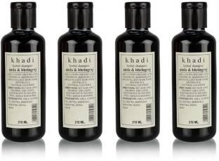 Herbal Khadi Amla & Bhringraj shampoo, pack of 4