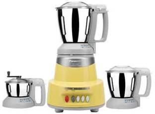 Panasonic 325TY AV 600 Mixer Grinder (3 Jars, Topaz, Yellow)
