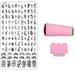 Royalkart Nail Art Stamping Jumbo Image Plate D.I.Y. With Double-Sided Stamper & Scraper(XY03)