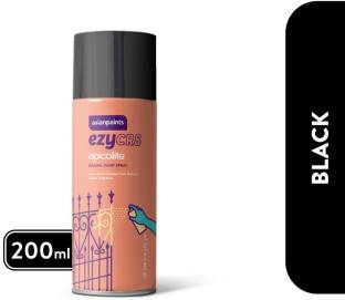 ASIAN PAINTS ezyCR8 Apcolite, DIY Aerosol Gloss Enamel Paint Spray, 200 ml - Black Black Spray Paint 2...