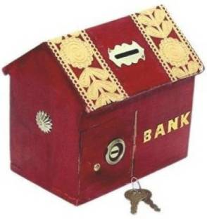 Kingmax Fire Red Pig Design Coin Bank 7.5 Inches Long 6 Inches Tall