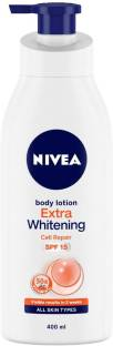NIVEA Body Lotion, Extra Whitening Cell Repair, SPF 15 & 50x Vitamin C